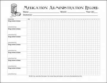 005 Excellent Medication Administration Record Form Download Highest Quality 360