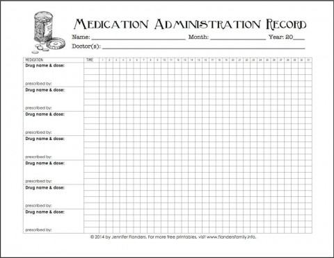 005 Excellent Medication Administration Record Form Download Highest Quality 480