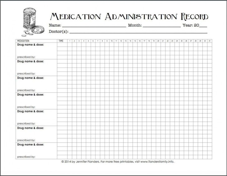 005 Excellent Medication Administration Record Form Download Highest Quality 728