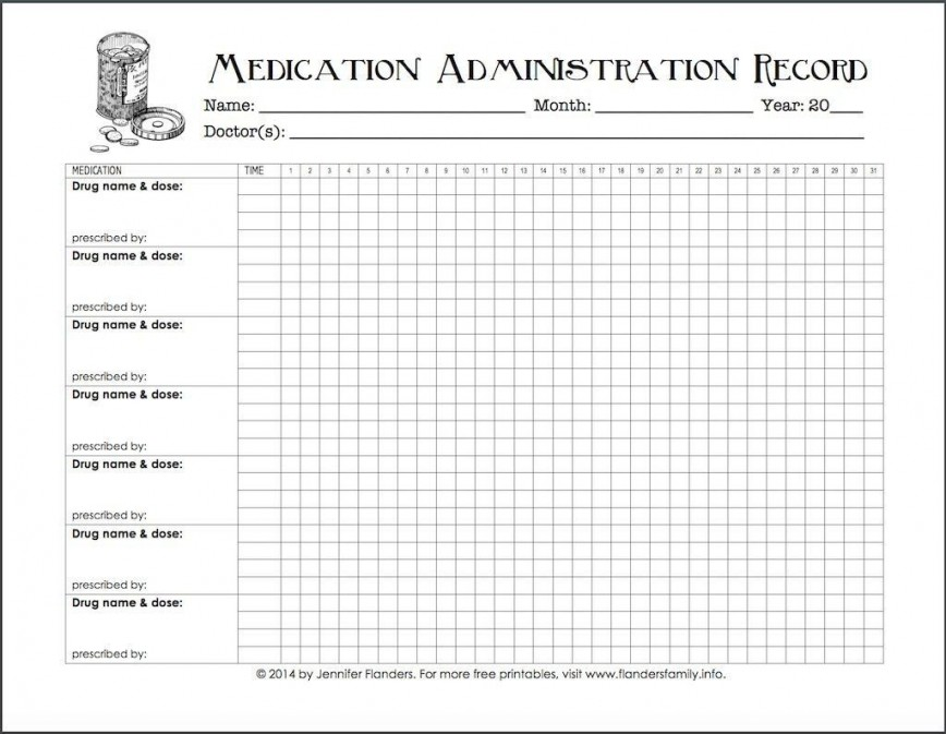 005 Excellent Medication Administration Record Form Download Highest Quality 868