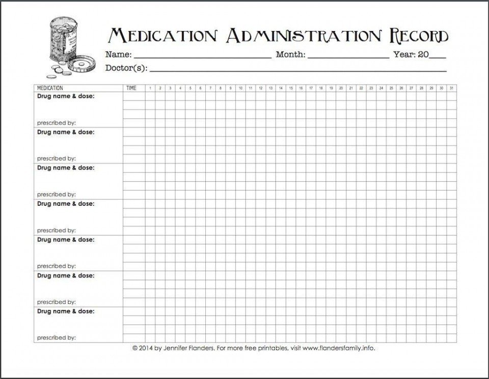 005 Excellent Medication Administration Record Form Download Highest Quality 960