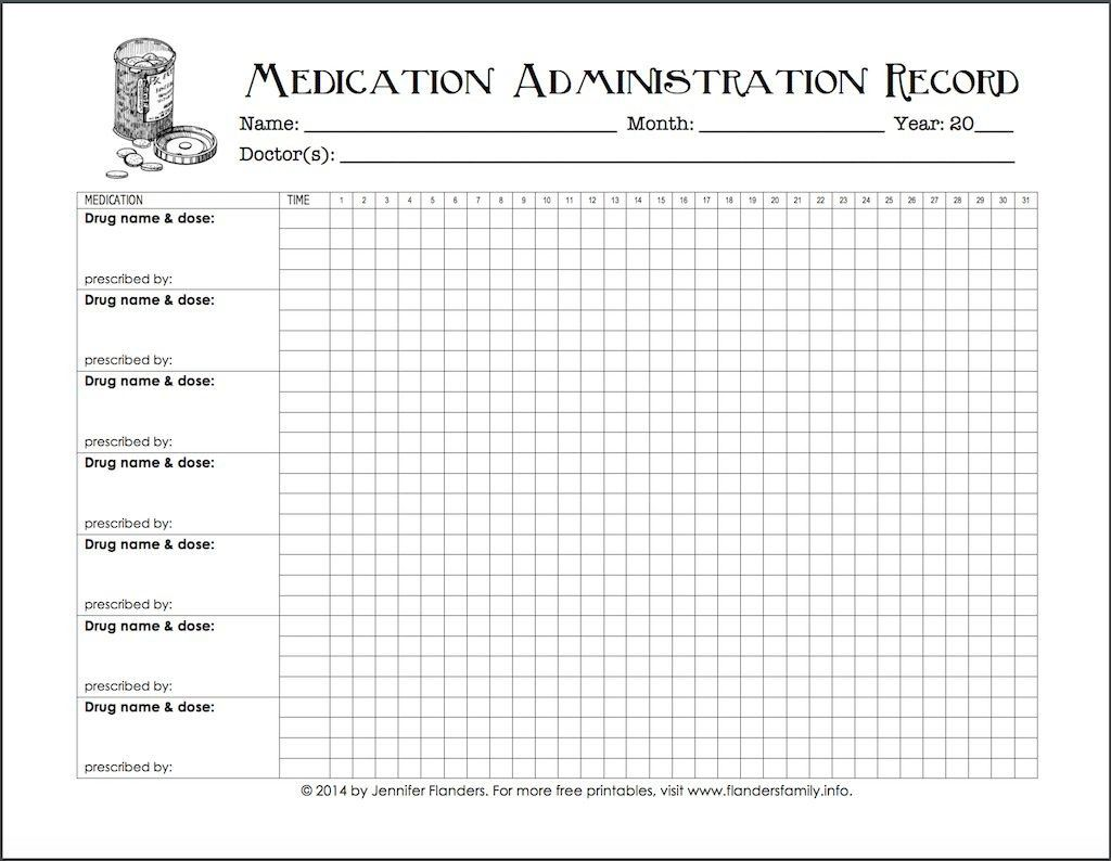 005 Excellent Medication Administration Record Form Download Highest Quality Full