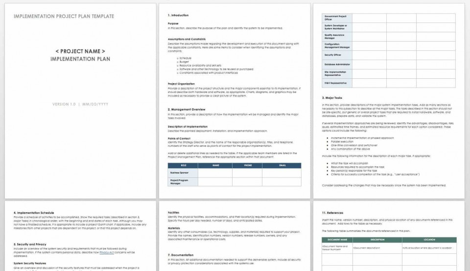 005 Excellent Microsoft Word Project Plan Template High Def  Simple Management960