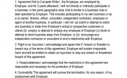 005 Excellent Non Compete Agreement Template Uk High Def