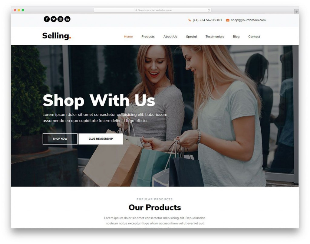 005 Excellent Product Website Template Html Free Download Example  With CsLarge