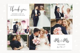 005 Excellent Wedding Thank You Card Template Idea  Photoshop Word Etsy