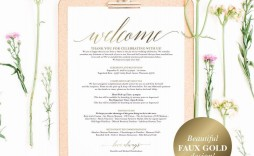 005 Excellent Wedding Welcome Letter Template Free Sample  Bag