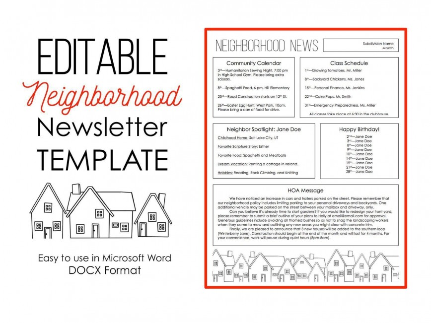 005 Excellent Word 2007 Newsletter Template Free Sample