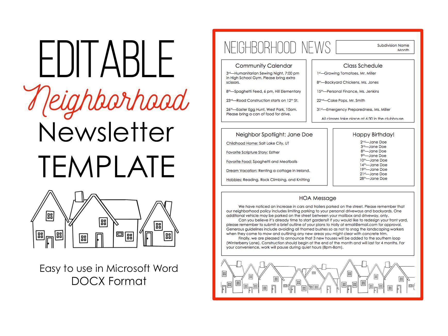 005 Excellent Word 2007 Newsletter Template Free Sample Full