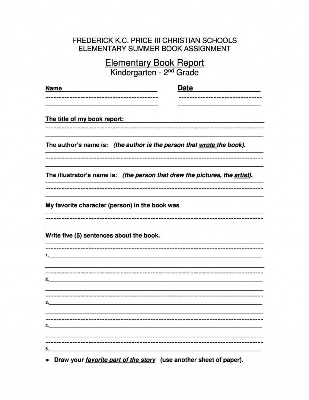 005 Exceptional 6th Grade Book Report Format Design  Sixth Example Printable Middle School TemplateLarge
