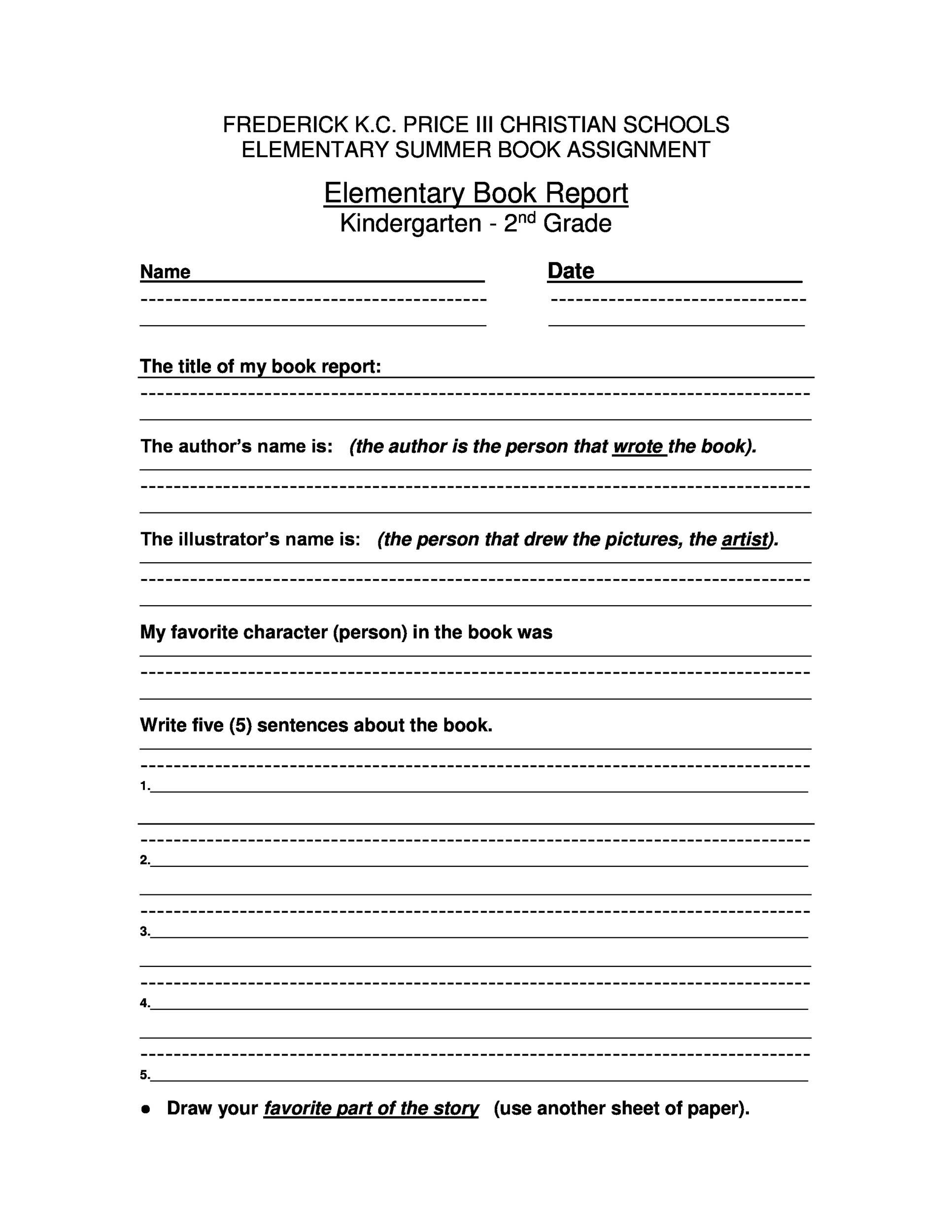 005 Exceptional 6th Grade Book Report Format Design  Sixth Example Printable Middle School TemplateFull