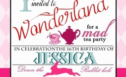 005 Exceptional Alice In Wonderland Party Template High Definition  Templates Invitation Free