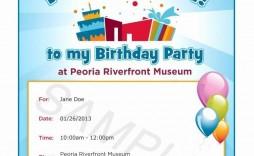 005 Exceptional Birthday Party Invitation Template Word Free Idea  Download Invite