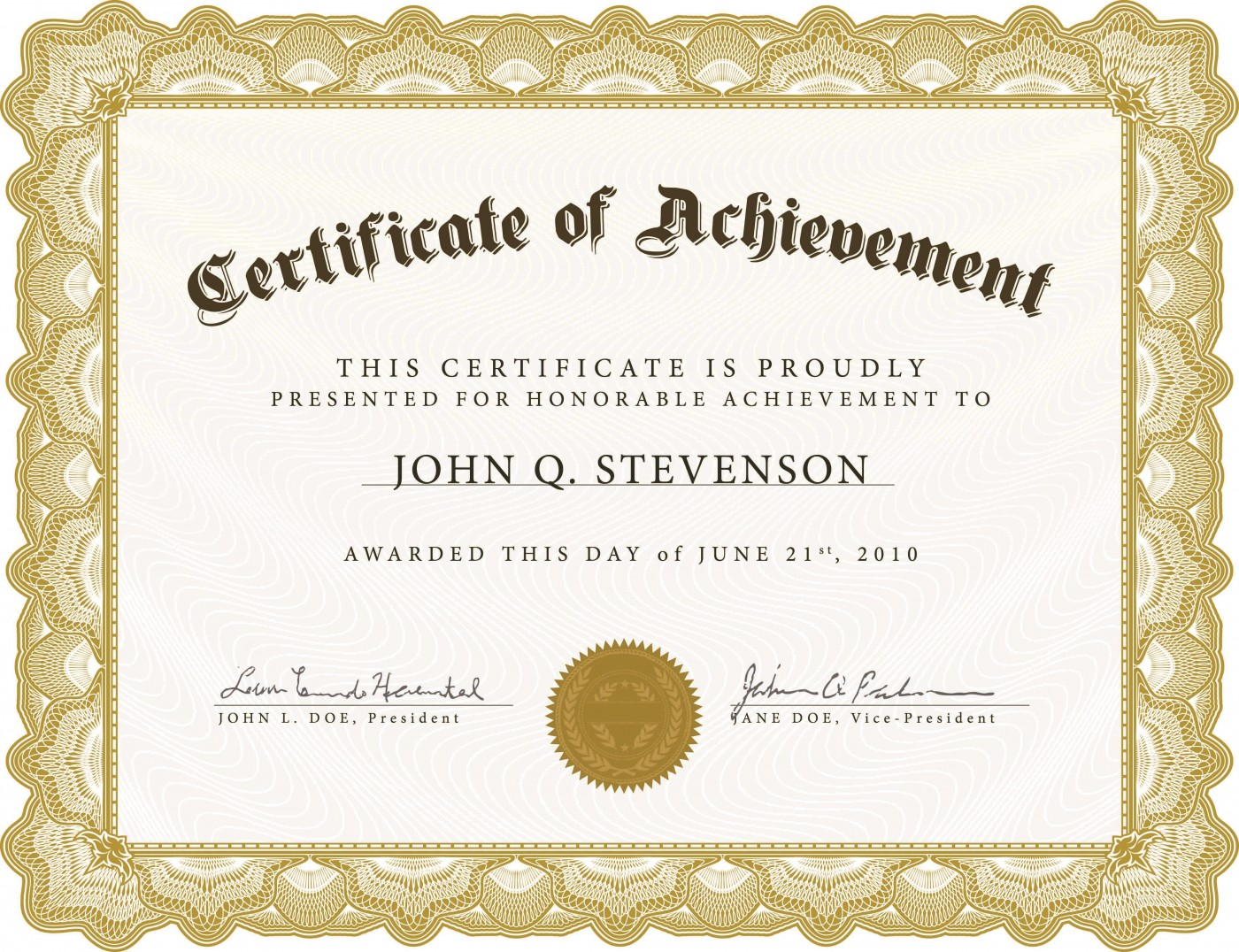005 Exceptional Certificate Of Award Template Word Free Photo 1400