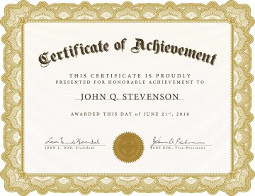 005 Exceptional Certificate Of Award Template Word Free Photo 360