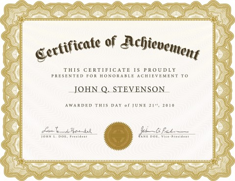 005 Exceptional Certificate Of Award Template Word Free Photo 480