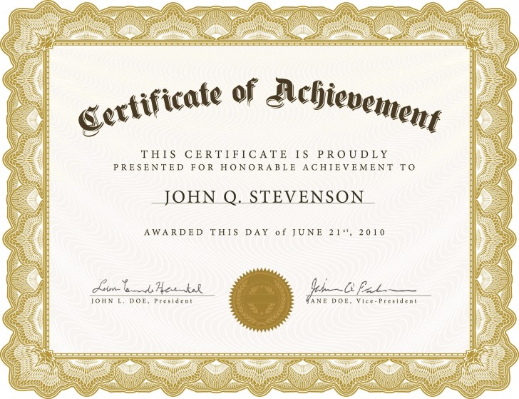 005 Exceptional Certificate Of Award Template Word Free Photo 728