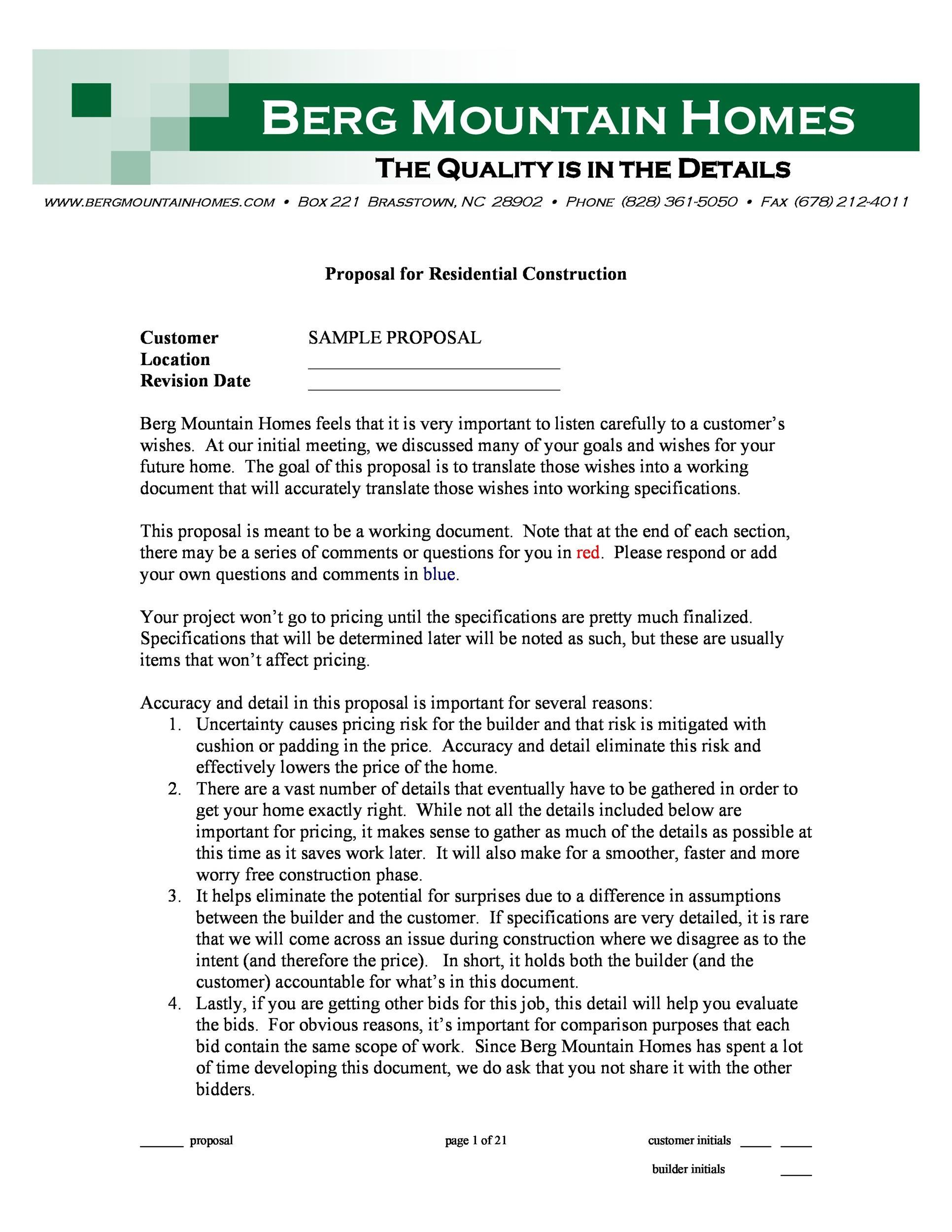 005 Exceptional Contractor Proposal Template Pdf Highest Clarity  Construction Bid Upwork Sample FreeFull