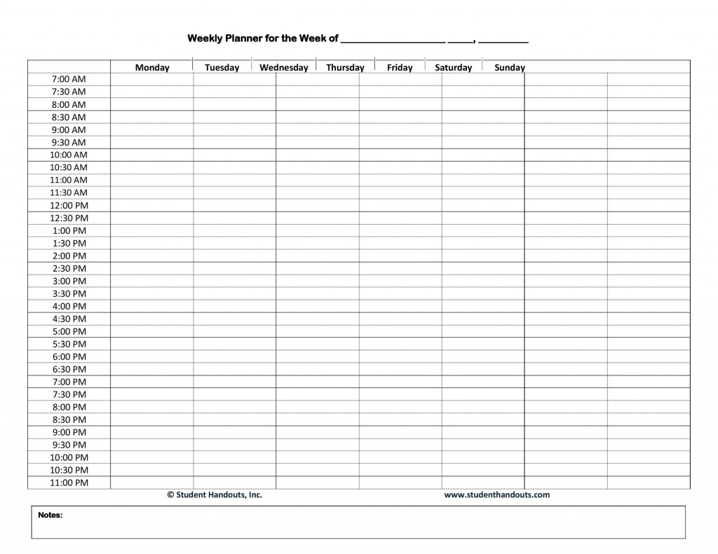 005 Exceptional Daily Hourly Schedule Template Word Concept Large