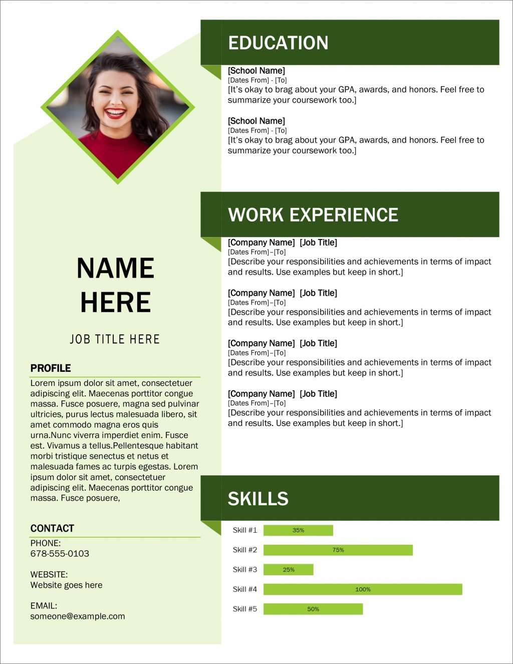 005 Exceptional Download Resume Template Word 2007 High Def Large