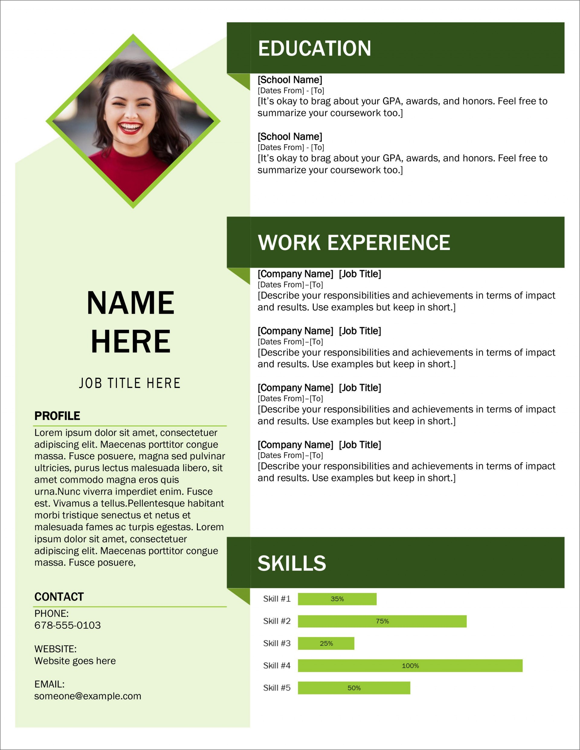 005 Exceptional Download Resume Template Word 2007 High Def 1920