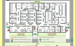 005 Exceptional Fire Escape Plan Template Design  Evacuation Free Busines Uk