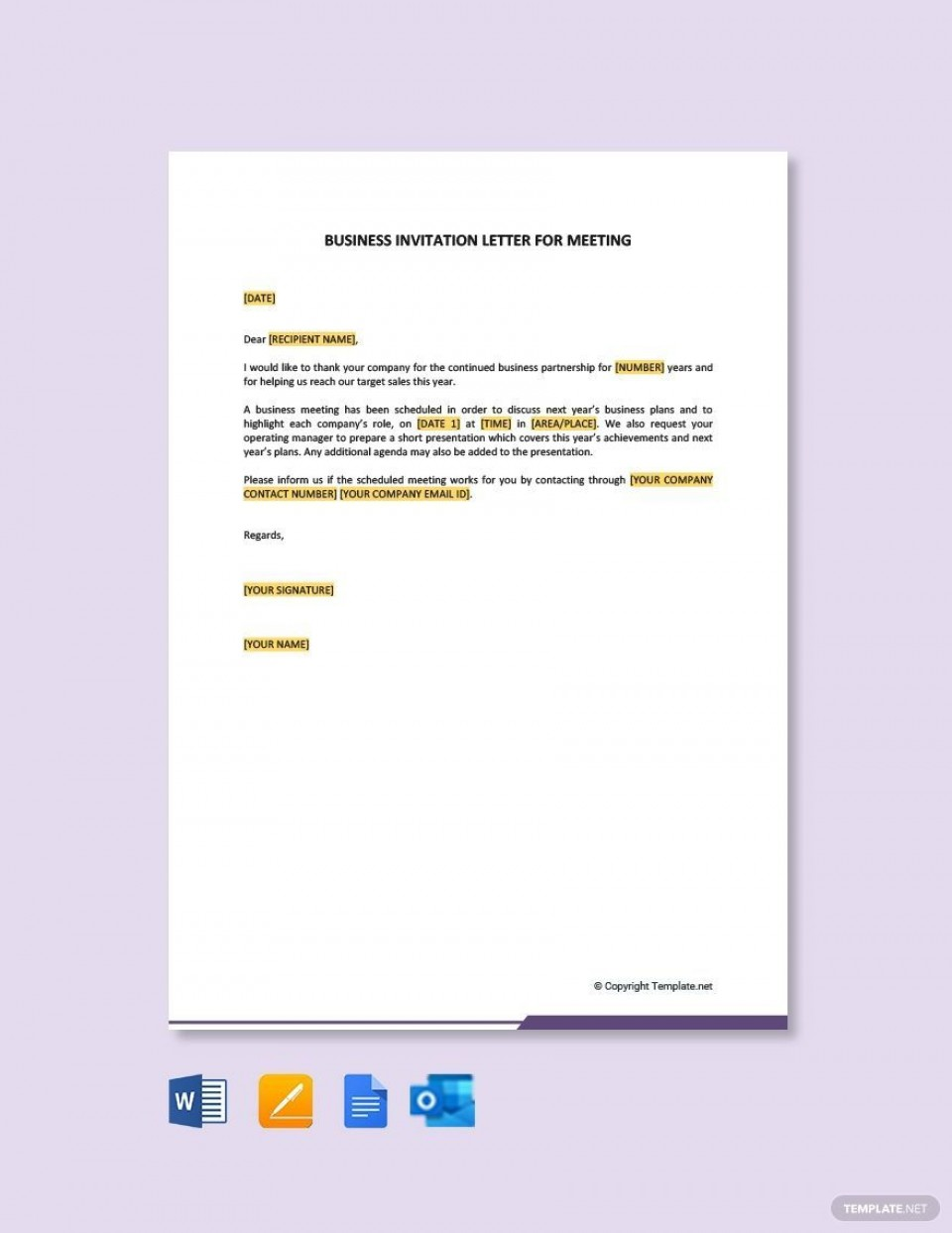 005 Exceptional Free Busines Invitation Template For Word High Def 960