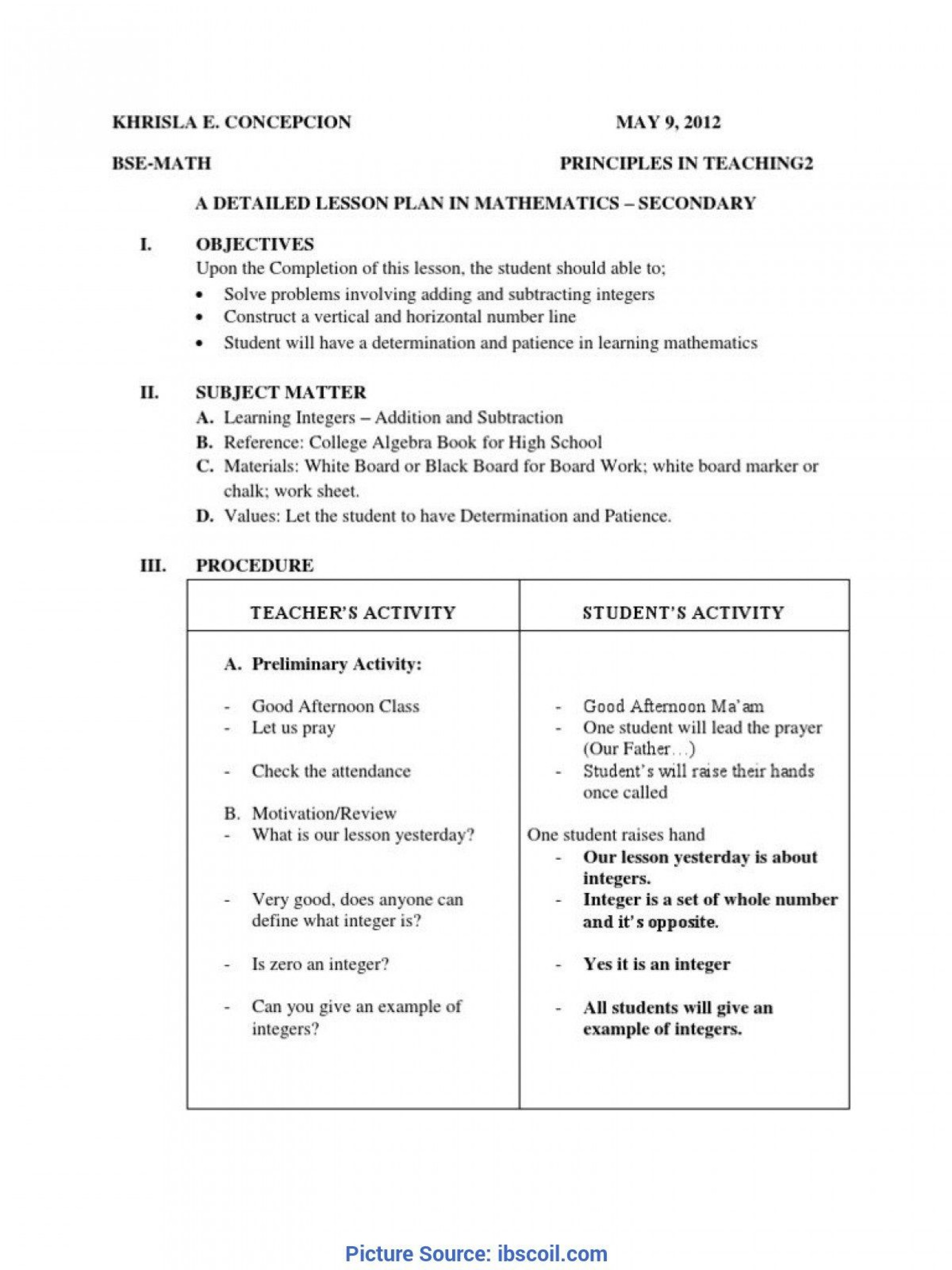005 Exceptional Lesson Plan Template High School Math Definition  Example For Free1920