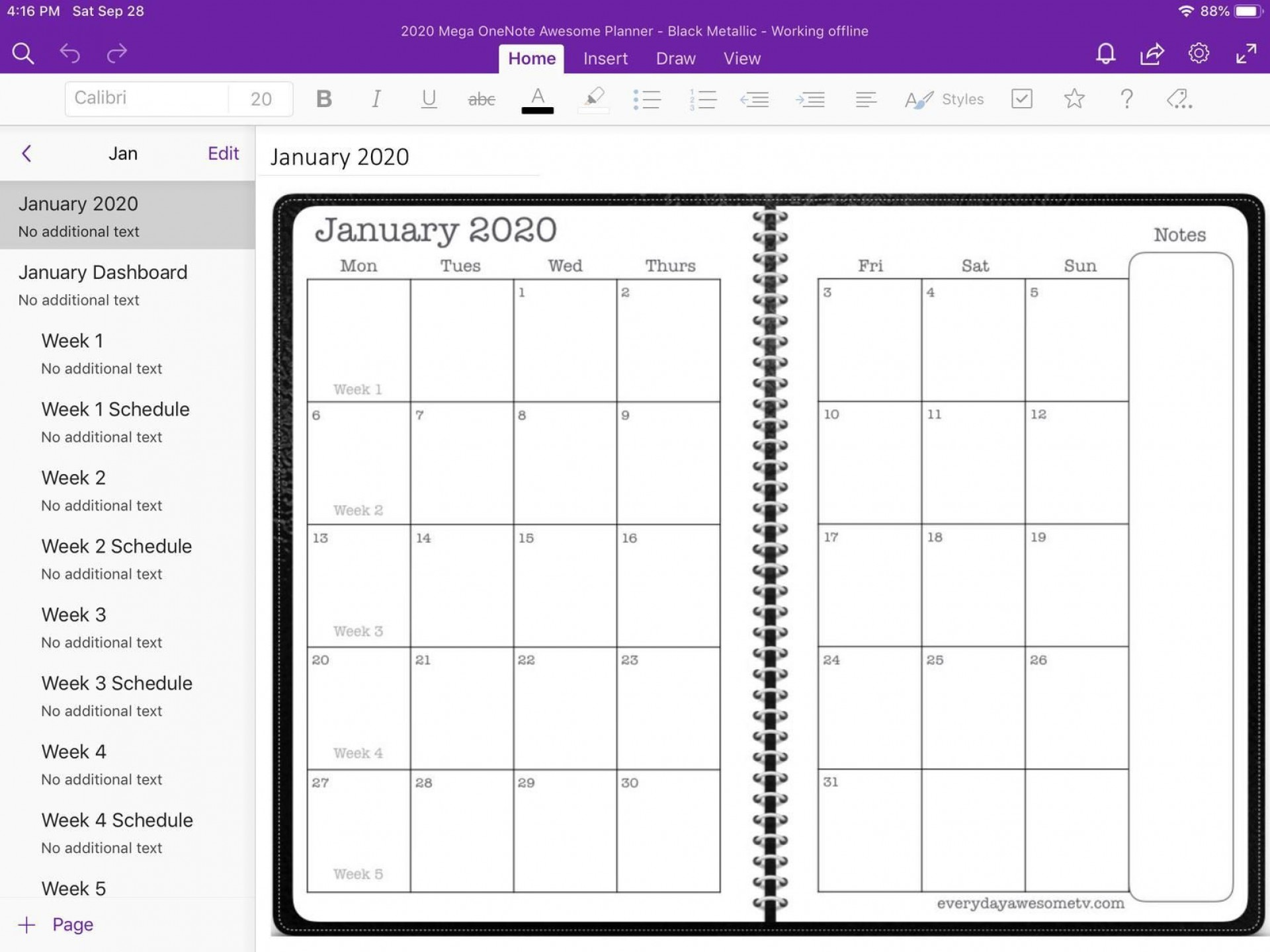 005 Exceptional Onenote Project Management Template Free Sample  Download1920