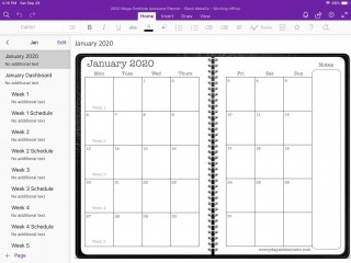 005 Exceptional Onenote Project Management Template Free Sample  Download320