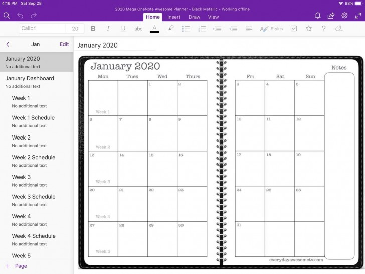 005 Exceptional Onenote Project Management Template Free Sample  Download728