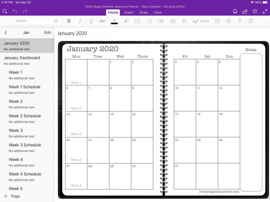 005 Exceptional Onenote Project Management Template Free Sample  Download868