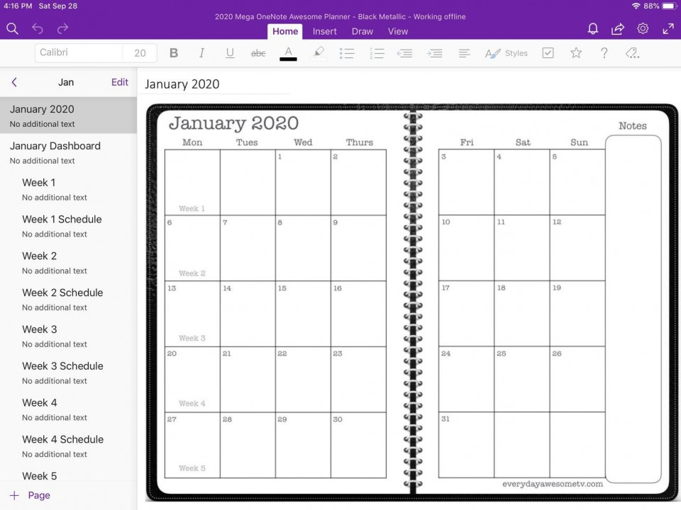 005 Exceptional Onenote Project Management Template Free Sample  Download960