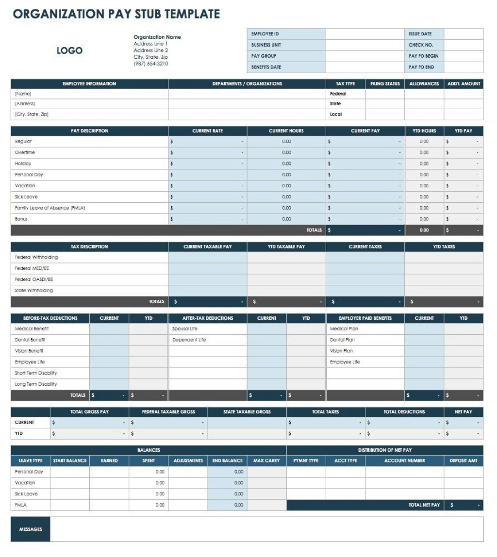 005 Exceptional Pay Stub Excel Template Highest Quality  Quickbook Paycheck Microsoft CheckLarge