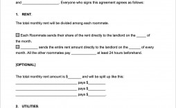 005 Exceptional Roommate Rental Agreement Template Photo  Form Free Contract