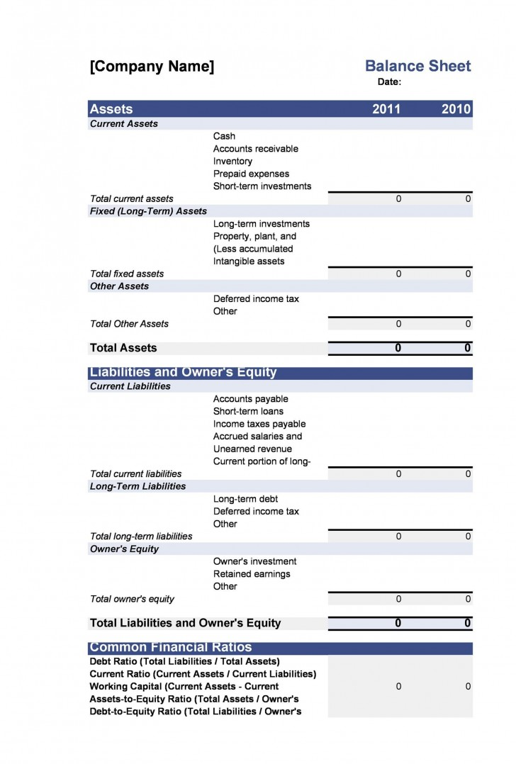 005 Exceptional Simple Balance Sheet Template High Resolution  Example For Small Busines Sample A Church728