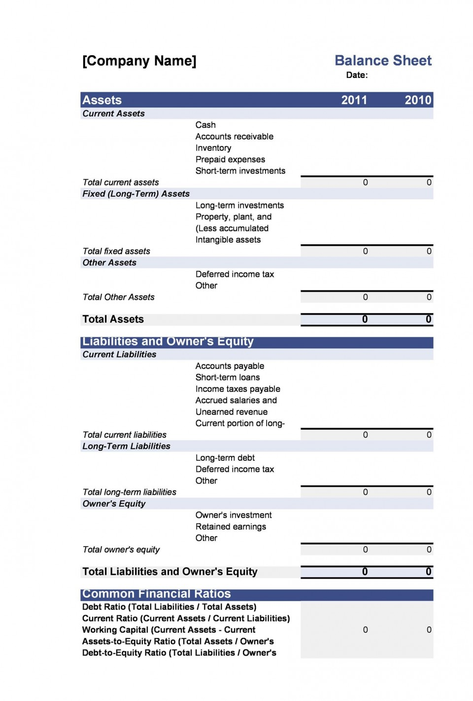 005 Exceptional Simple Balance Sheet Template High Resolution  Example For Small Busines Sample A Church960