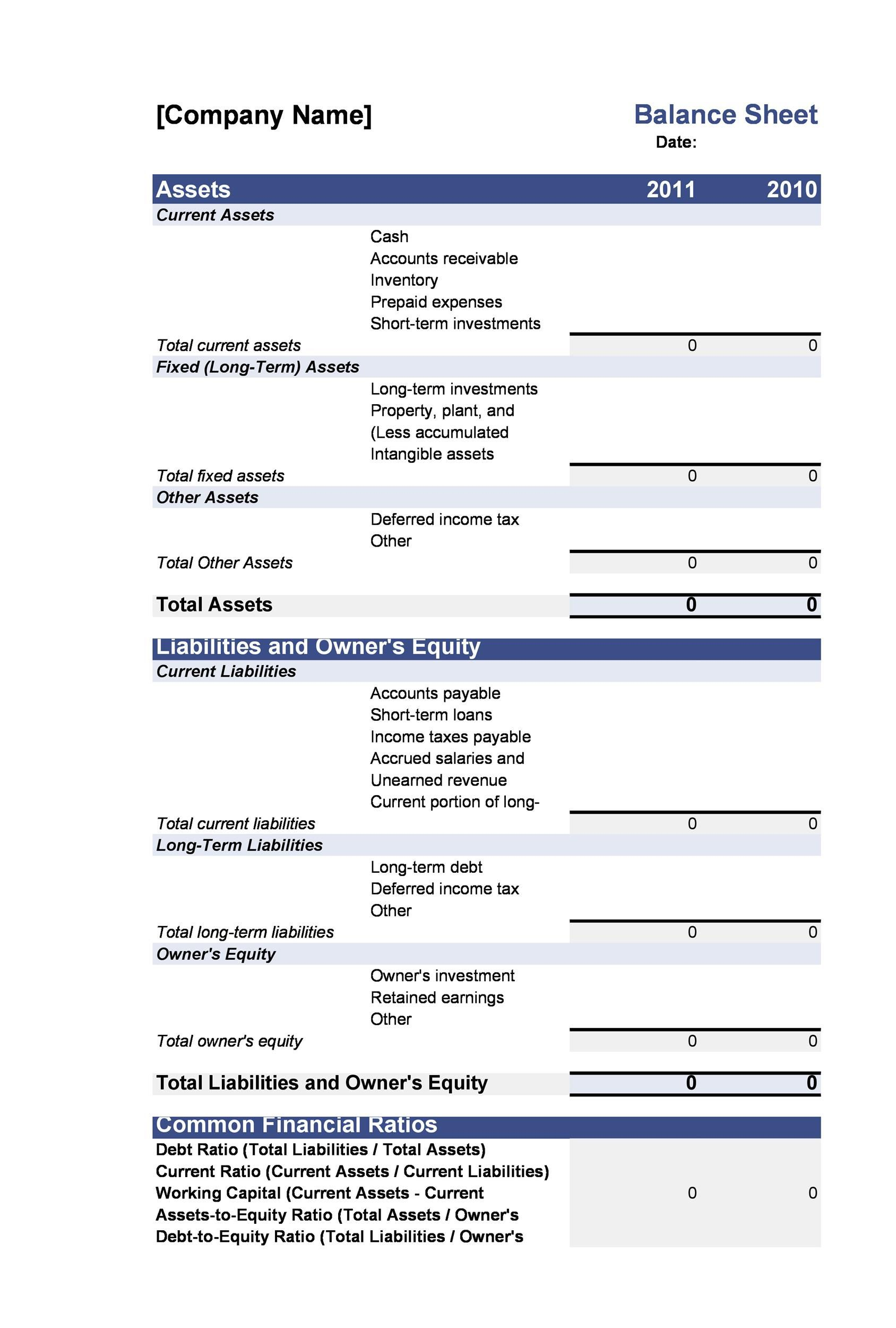 005 Exceptional Simple Balance Sheet Template High Resolution  Example For Small Busines Sample A ChurchFull