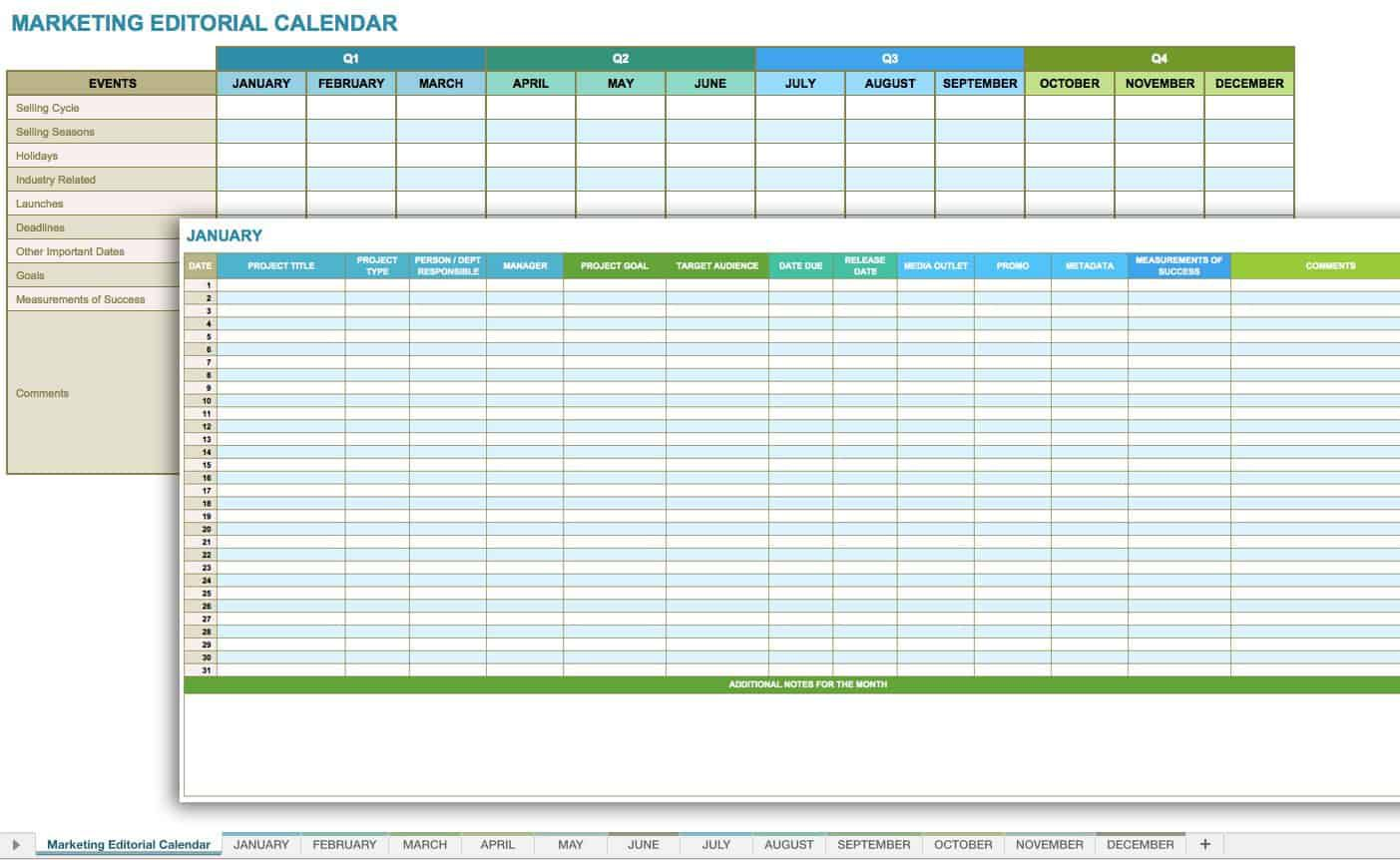 005 Exceptional Social Media Editorial Calendar Template High Def  Content Excel 2020 Free DownloadFull