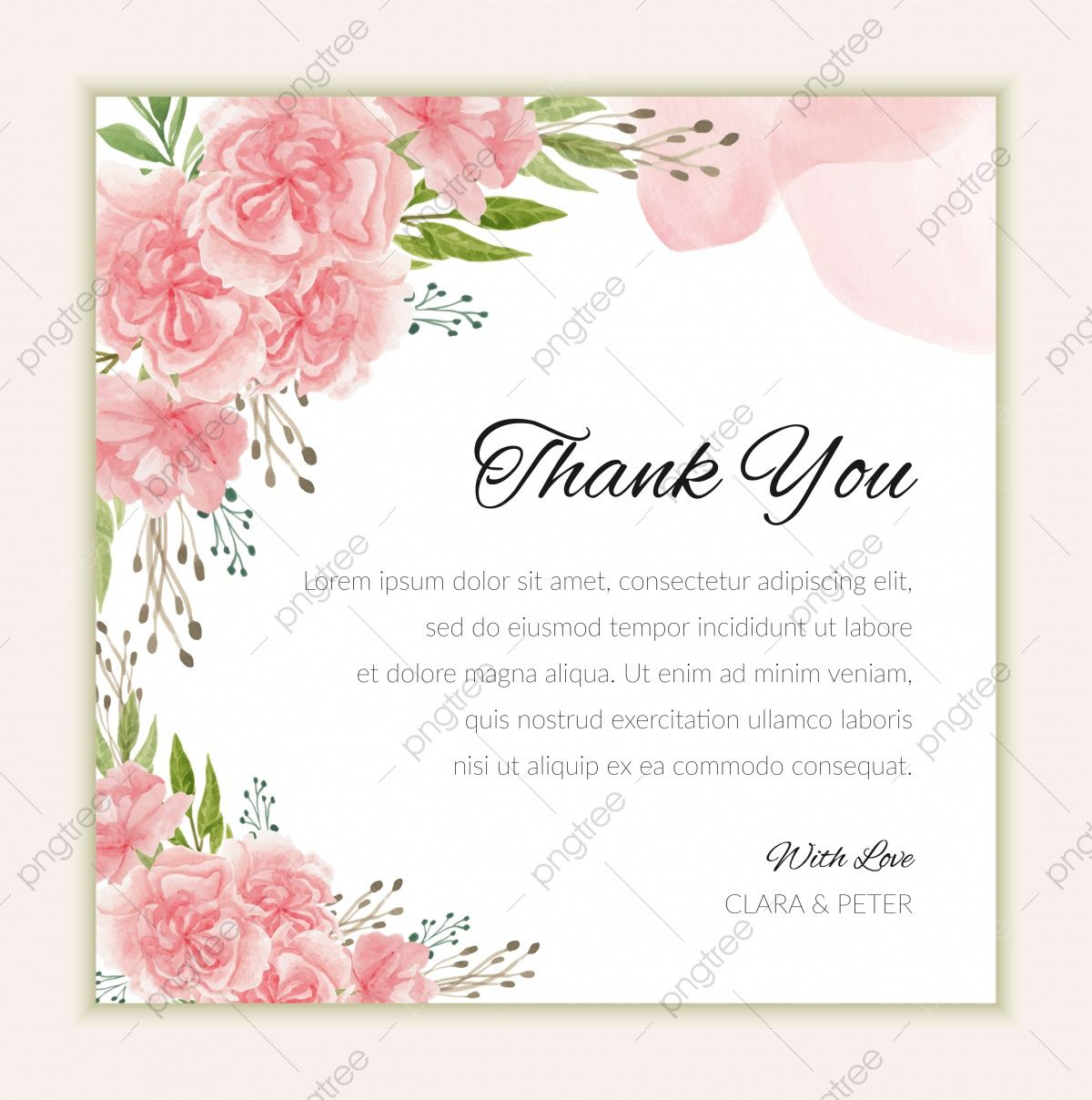 005 Exceptional Thank You Card Template Idea  Wedding Busines Word FreeFull