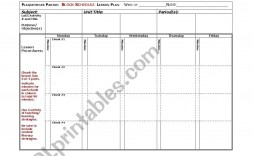 005 Exceptional Weekly Lesson Plan Template Inspiration  Preschool Printable Google Doc Excel Free