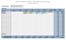 005 Exceptional Work Schedule Format In Excel Download Image  Template Employee Training Plan Free