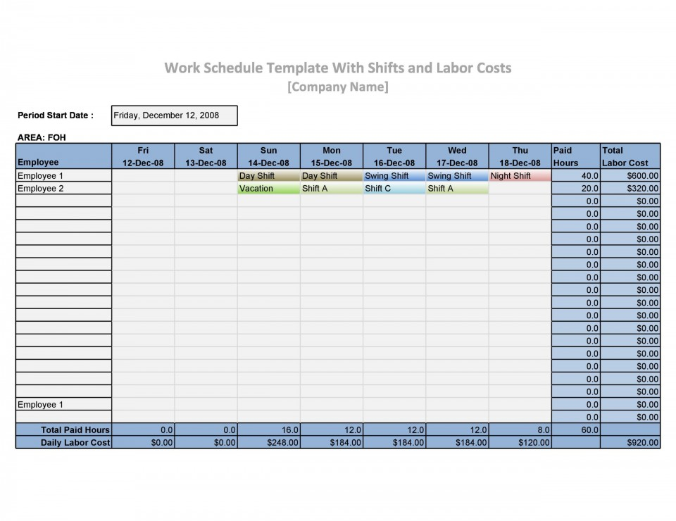 005 Exceptional Work Schedule Format In Excel Download Image  Order Template Free960