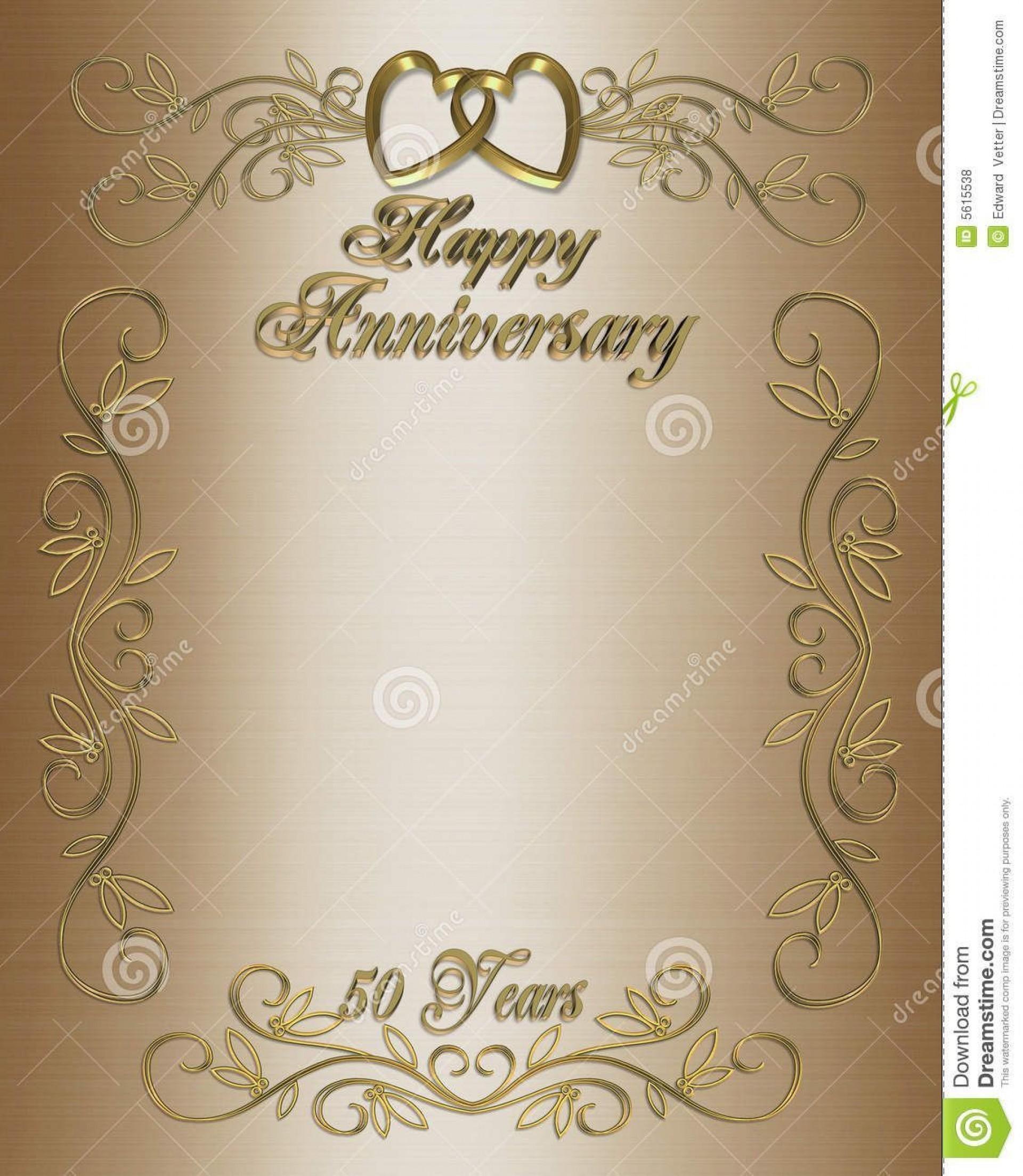 005 Fantastic 50th Wedding Anniversary Invitation Template Free Download Idea  Golden1920