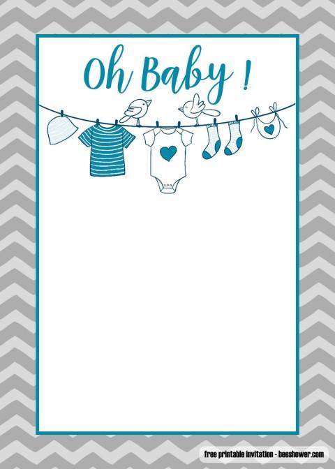 005 Fantastic Baby Shower Invitation Template Microsoft Word Design  Free Editable480
