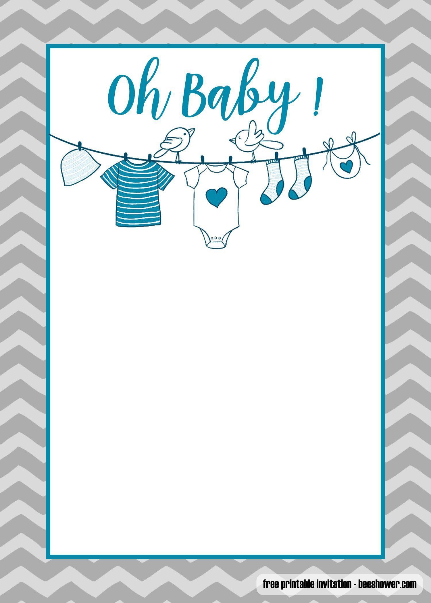 005 Fantastic Baby Shower Invitation Template Microsoft Word Design  Free EditableFull