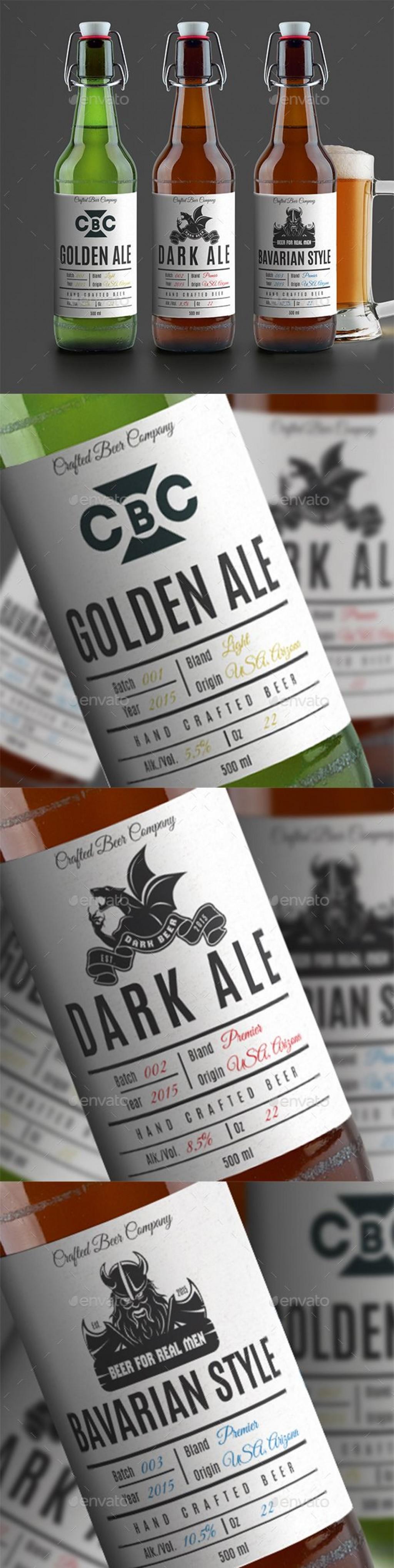 005 Fantastic Beer Bottle Label Template Word High Definition  FreeLarge
