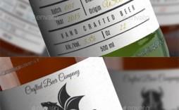 005 Fantastic Beer Bottle Label Template Word High Definition  Free