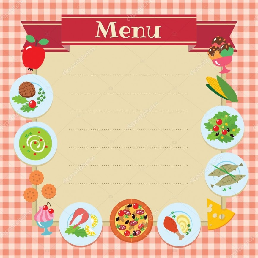 005 Fantastic Blank Restaurant Menu Template Sample  Downloadable Free Download