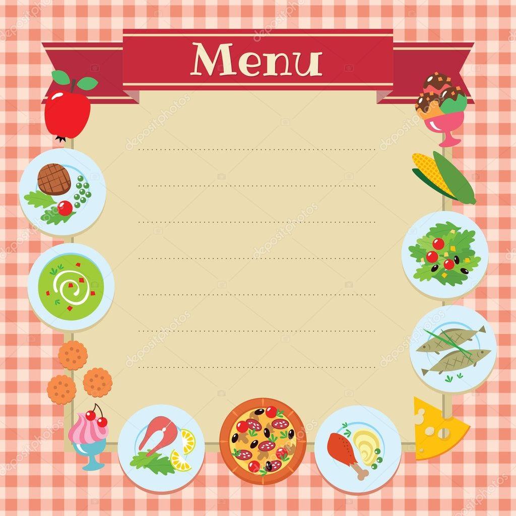 005 Fantastic Blank Restaurant Menu Template Sample  Free Printable DownloadableFull